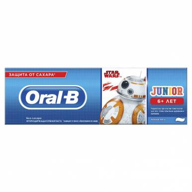 ORAL_B Зубная паста Junior для детей Нежная мята 75мл