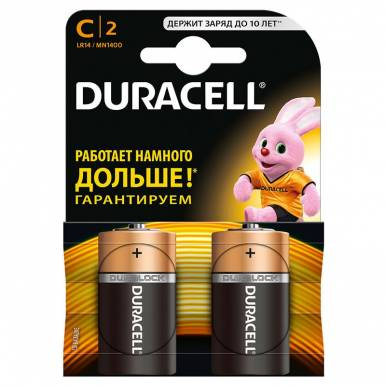 DURACELL элемент питания MN1400 К2 C 2шт (519/724/403)