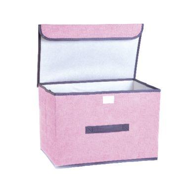 Короб для хранения 25х25х38см с крышкой микс арт.MASP8518