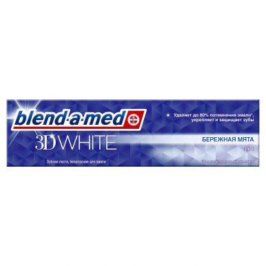 Blend-a-med зубная паста 3D WHITE Бережная мята, 100 мл