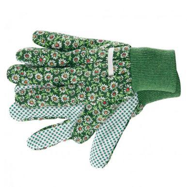 Перчатки садовые 22х12см с ПВХ точками микс арт.20919-0142