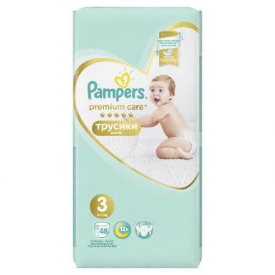 PAMPERS Подгузники-трусики Premium Care Pants д/мальчиков и девочек Midi (6-11 кг) Упаковка 48