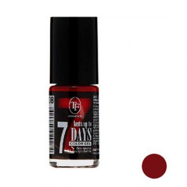 """TF Лак для ногтей COLOR GEL, тон 245 """"Dark red/Темно-красный"""", 8мл"""