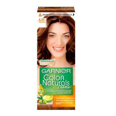 Garnier стойкая питательная крем-краска для волос Color Naturals, тон 6.34, Карамель, 110 мл
