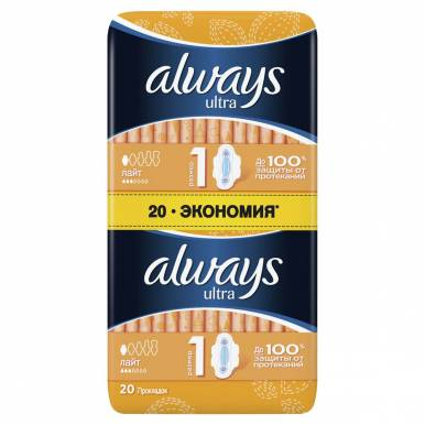 ALWAYS Прокладки ULTRA LIGHT 2*10шт ДУО AL/776/285/173