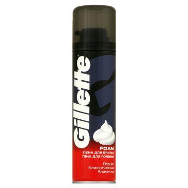 GILLETTE пена для бритья 200мл Regular красный (790/766/322)