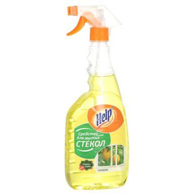 HELP средство для мытья стекол курок 750г Лимон__