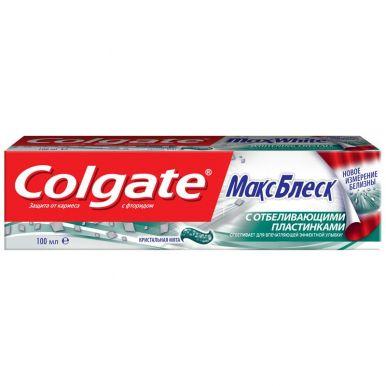 COLGATE FCN89250/CN00849A зубная паста Макс Блеск с отбеливающими пластинками, 100 мл
