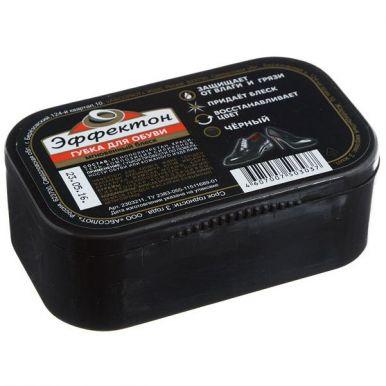 Эффектон губка для обуви мгновенный блек, черный, артикул: 2303211