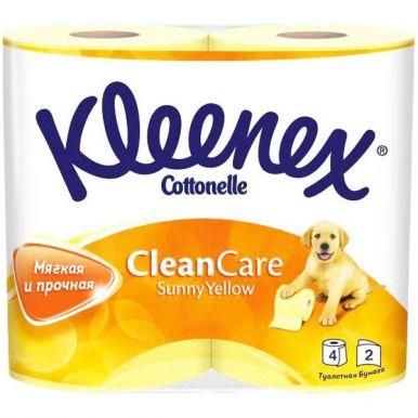 _KLEENEX туалетная бумага 4рул. Желтая