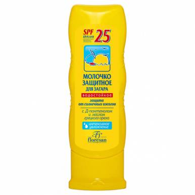 Floresan Ф108н молочко защитное для загара ФЗ-25, 125 мл