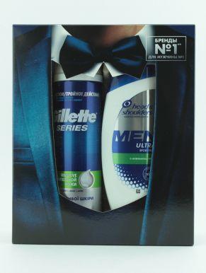 Набор HS Шампунь пр/перхоти Sports Fresh 200мл+ GIL TGS Пена д/бр для чувствительной кожи с алоэ 250