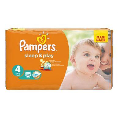 Pampers 4 подгузники Sleep & Play Maxi, 50 шт (7-14кг) Экономичная упаковка